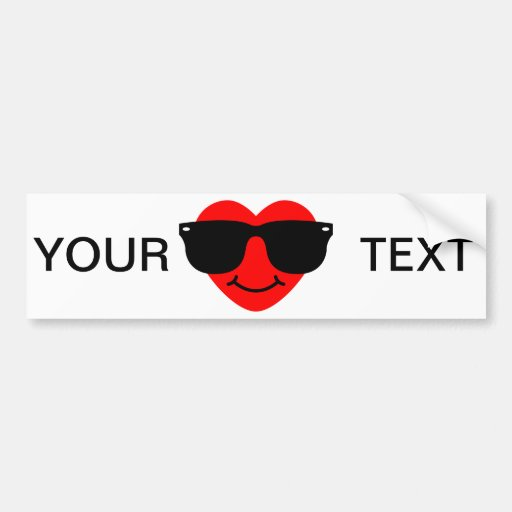 Heart with Sunglasses. Bumper Stickers