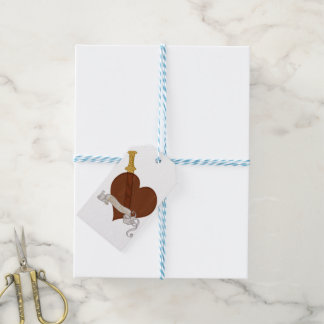 Heart With Sword Love Hurts Gift Tags