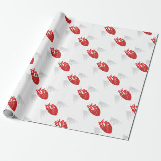 Heart With Tattered Wings Wrapping Paper