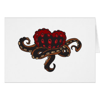 Heart with Tentacles Card