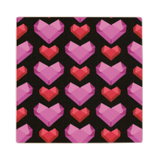 Heart Wood Coaster