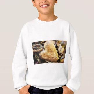 Heart Wooden Heart Hydrangea Flower Wood Love Sweatshirt