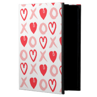 Heart XOXO Pink Red Valentine Love / Andrea Lauren Case For iPad Air
