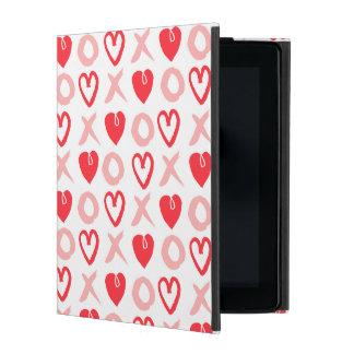 Heart XOXO Pink Red Valentine Love / Andrea Lauren iPad Folio Case