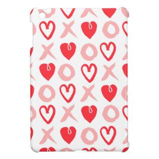 Heart XOXO Pink Red Valentine Love / Andrea Lauren iPad Mini Covers