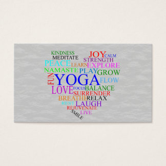 Heart Yoga Business Card for Yoga Teacher