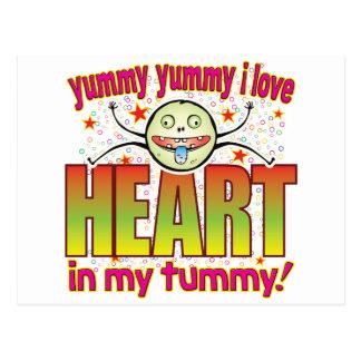 Heart Yummy Freak Postcard