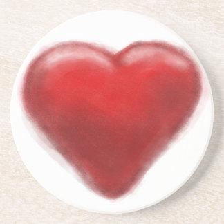 heart zone drink coasters