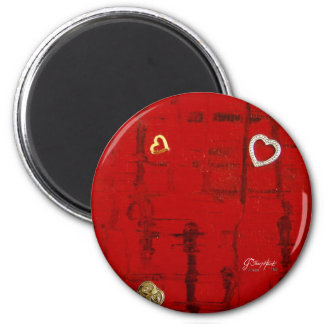 Heartbeat 6 Cm Round Magnet