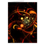 Heartbeat Abstract Art Greeting Card