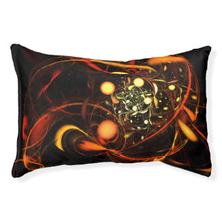 Heartbeat Abstract Art Pet Bed