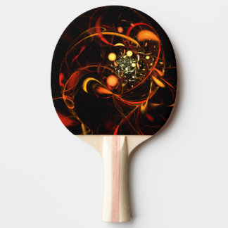 Heartbeat Abstract Art Ping Pong Paddle