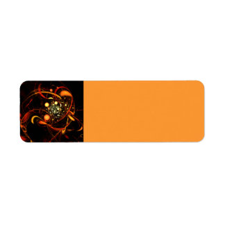 Heartbeat Abstract Art Return Address Label