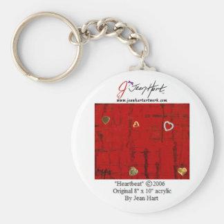 Heartbeat Basic Round Button Key Ring