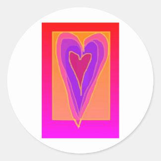 heartbeat classic round sticker