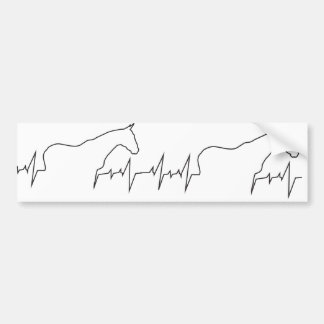 Heartbeat-Horse-and-Body Bumper Sticker
