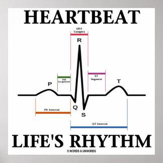 Heartbeat Life s Rhythm ECG EKG Heartbeat Print
