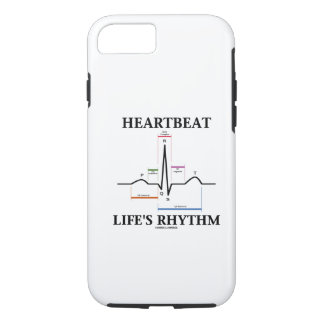 Heartbeat Life's Rhythm (Sinus Rhythm ECG/EKG) iPhone 8/7 Case