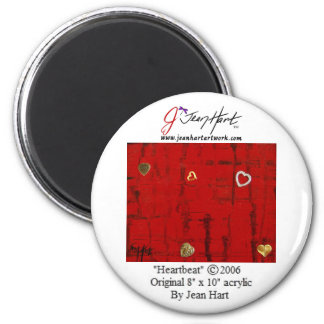 Heartbeat 6 Cm Round Magnet