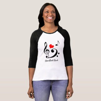 Heartbeat rock funny unique customizable T-Shirt