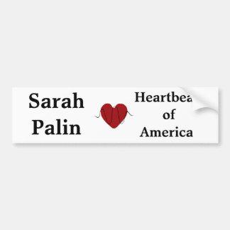 heartbeat, Sarah Palin, Heartbeat ofAmerica Bumper Sticker