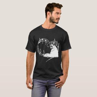 Heartbeats Himalayan Cat Pet Love Rhythm Tshirt