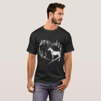 Heartbeats Warmblood Horse Love Rhythm Tshirt