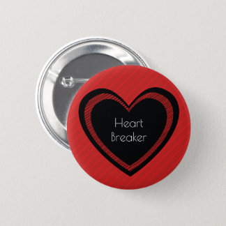 Heartbreaker Red and Black | Button