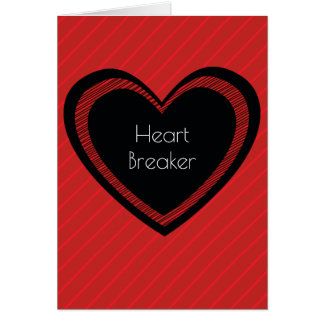 Heartbreaker Red and Black | Greeting Card