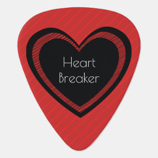 Heartbreaker Red and Black | Guitar Pick