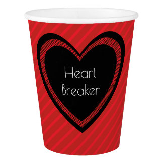 Heartbreaker Red and Black | Paper Cup