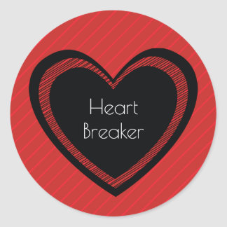 Heartbreaker Red and Black | Sticker