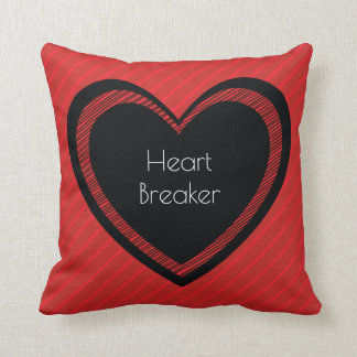 Heartbreaker Red and Black | Throw Pillow