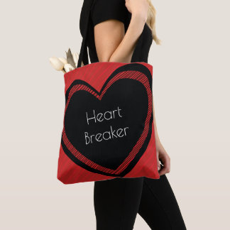 Heartbreaker Red and Black | Tote Bag