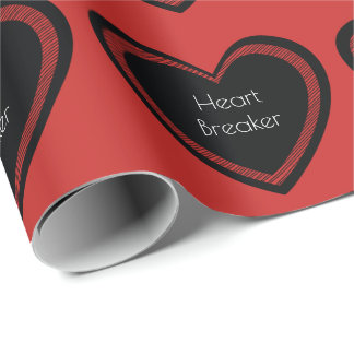 Heartbreaker Red and Black | Wrapping Paper