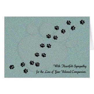 Heartfelt Dog or Cat Pet Sympathy Cards