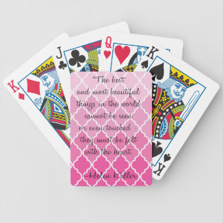 Heartfelt Keller Quote Bicycle Playing Cards