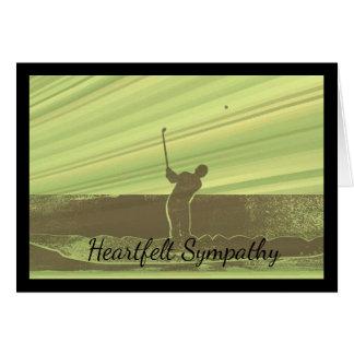 Heartfelt Sympathy Card for a Golfer