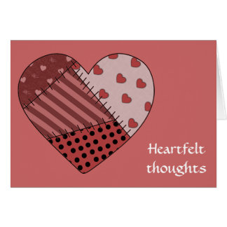 Heartfelt Thoughts - Blank Note Card