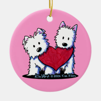 Heartfelt Westies Ornament