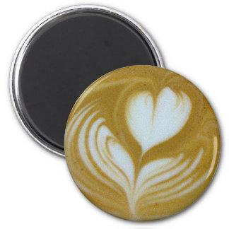 heartflower 6 cm round magnet