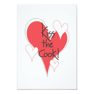 Heartful Kiss the Cook Gift Cards for Food Baskets 9 Cm X 13 Cm Invitation Card