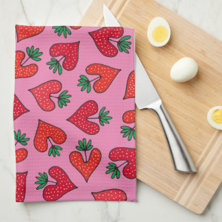 Heartic Strawberry Kitchen Towel