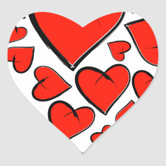 Heartinella - flying hearts heart sticker