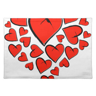 Heartinella - flying hearts placemat