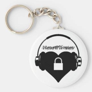 Heartphones, Keyring Basic Round Button Key Ring