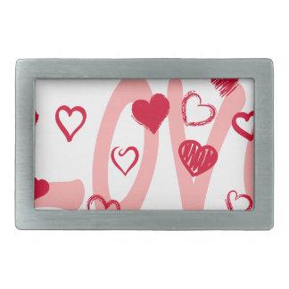 hearts2 rectangular belt buckles