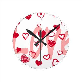 hearts2 round clock