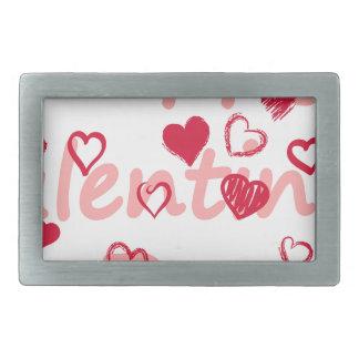 hearts3 rectangular belt buckle