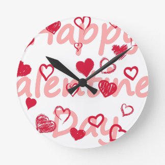 hearts3 round clock